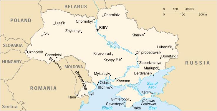 Ucraina map